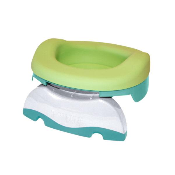 Pack pot de voyages transformable en réducteur de toilettes et en pot de maison