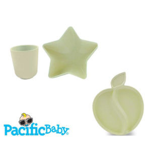 Vaisselle en bambou assortiment 3 pièces Pacific Baby