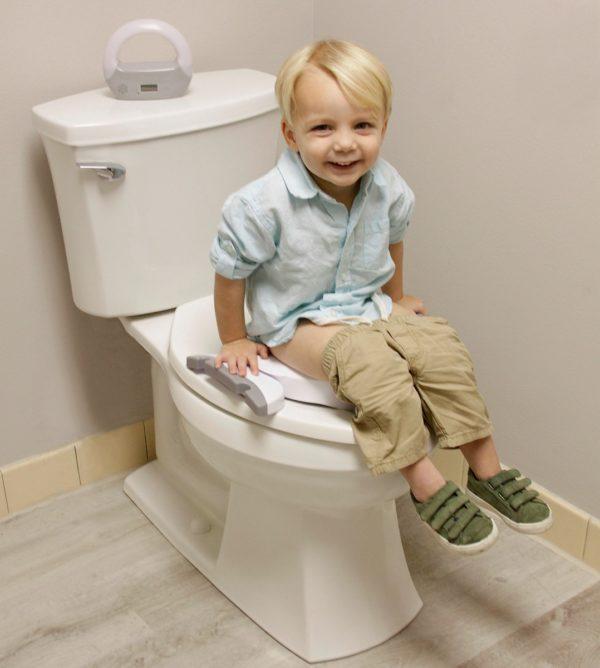 Pot bébé de voyages Premium de Potette Plus en réducteur de toilettes