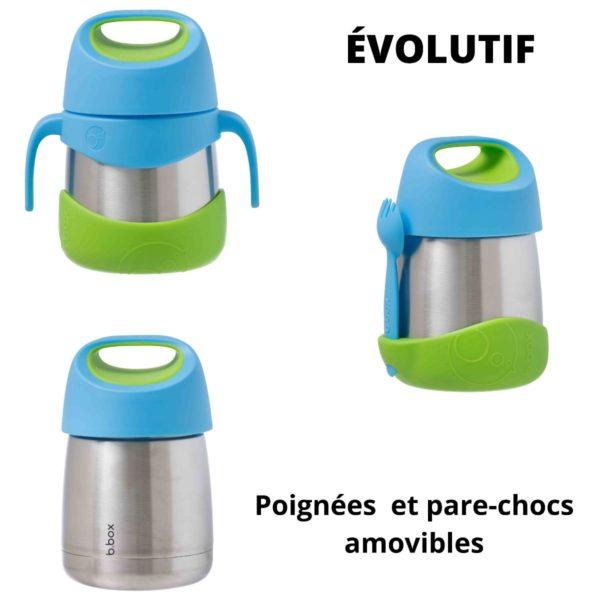 Boite repas isotherme évolutive B.box bleue