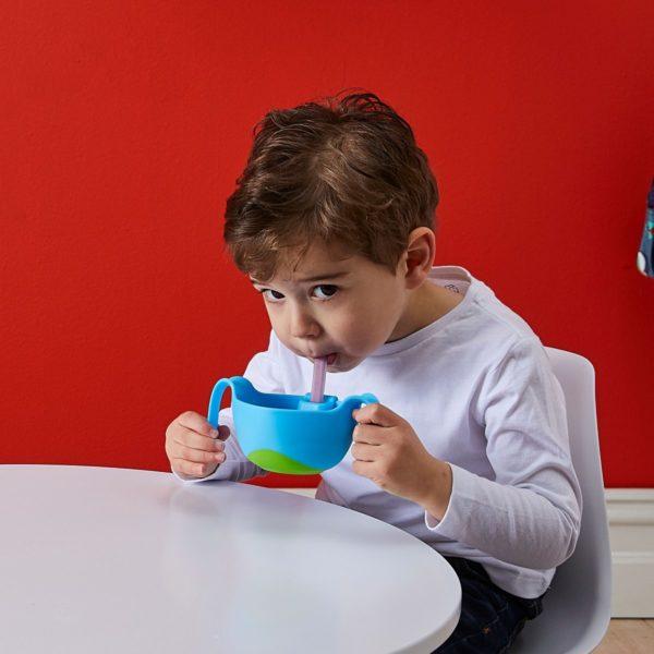 Bol enfant avec système de paille amovible
