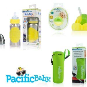 Biberon isotherme avec son top paille et sa housse de transport - Pacific Baby
